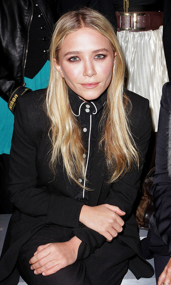 asos mary kate olsen pocket shirt make-up lipstick pants
