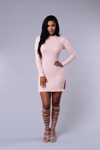 dress pink dress pink dress tunic tunic dress short ribbed