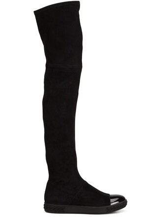 flat boots boots black shoes