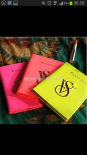 home accessory,passport cover,victoria's secret,neon