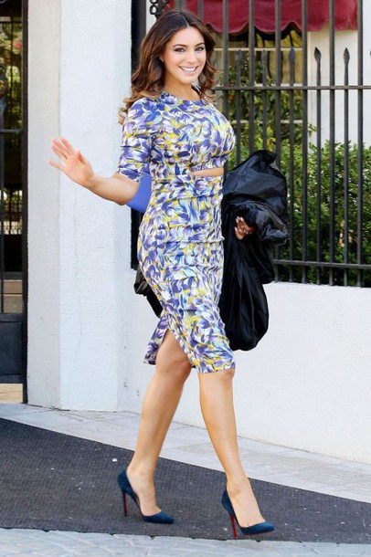 dress cut-out dress midi dress kelly brook