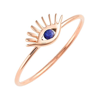 jewels evil eye ring rose gold tai bikiniluxe