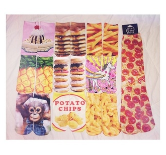 socks style pizza socks food swag cute socks