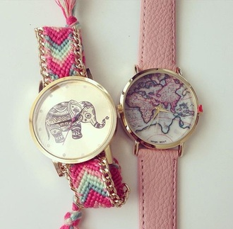jewels soft pink pink watch pink watch cute watch elephant