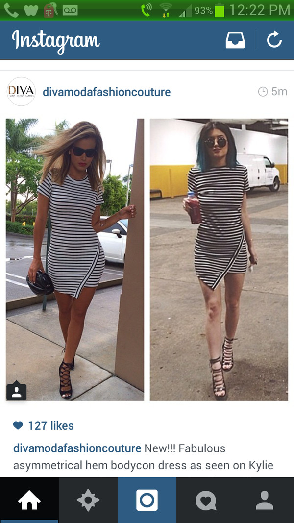 dress white &blavk black and white kylie jenner