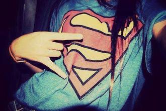 shirt superman girls clothes