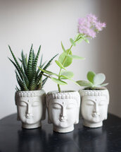 jewels,bag,pot,flowers,home accessory,thai buddha,white plant pot,plants,bouddha,home decor,hipster,buddha,classy