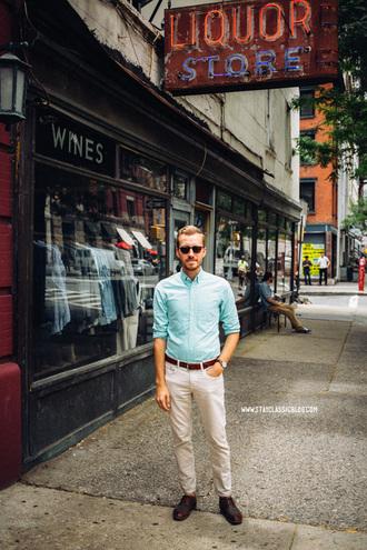 stay classic shoes jeans sunglasses belt jewels shirt