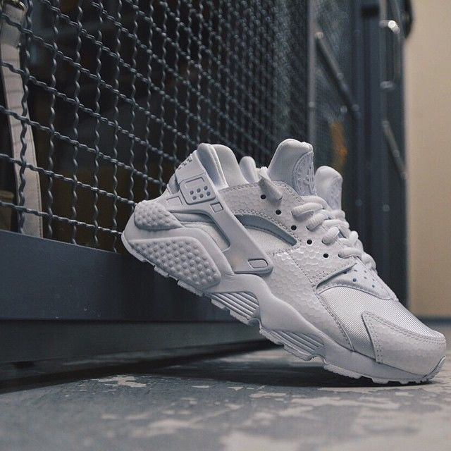 be4357d234c7f3 Nike Air Huarache Premium QS Triple White Women 683818 100 Foot ...