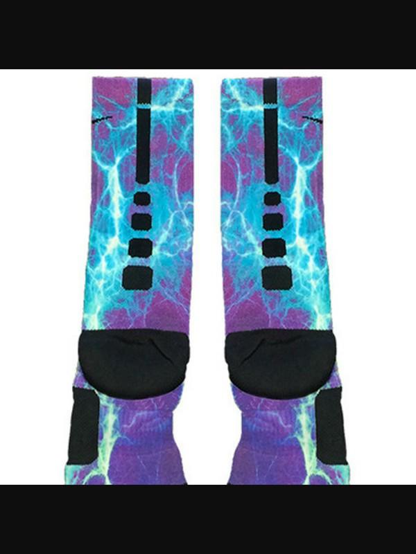 socks nike custon elite custom - Kaboom Teal Purple Custom Nike Elite Socks - Fresh Elites
