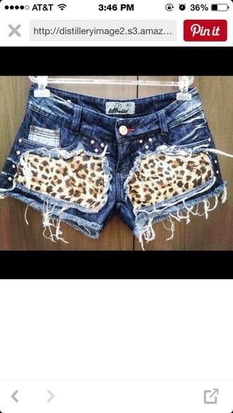 shorts leopard print denim shorts animal print