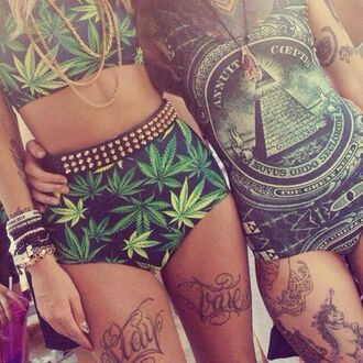 shorts outfit weed