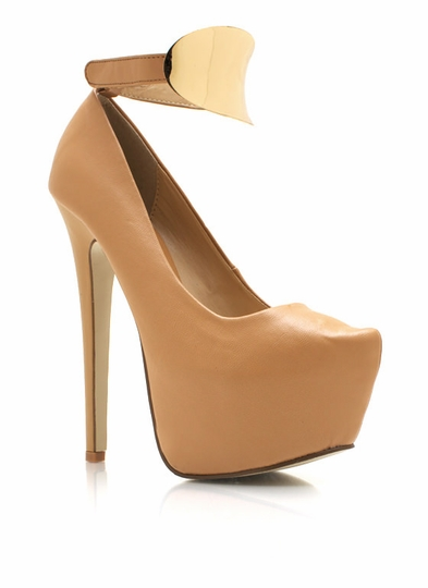 Metal-Plate-Ankle-Strap-Platforms NATURAL - GoJane.com