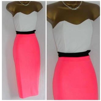 dress bodycon dress formal dress long dress clubwear sexy sexy dress fitted dress bustier dress strapless white pink