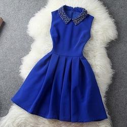 Europe 2013 femelle, hitz européen majeur de mode costume minces. main perlés robe taille