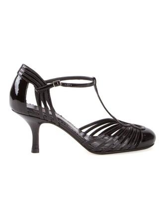 strappy women pumps black shoes
