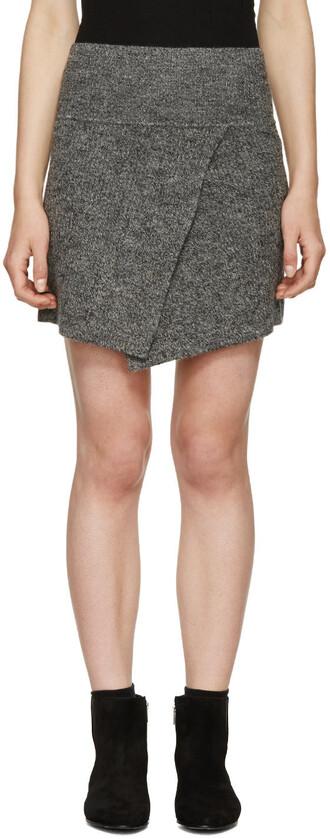 skirt winter skirt perfect grey