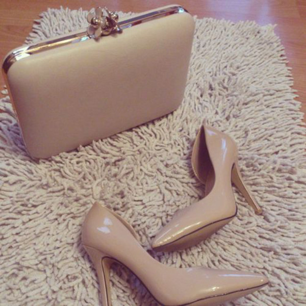 bag nude nude high heels nude pumps nude clutch shoes