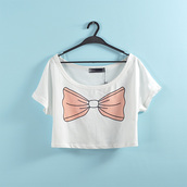 shirt,crop tops,cropped,bow,bows,bow dress,tumblr stuff,stuff,cute,pants,casual,school girl,back to school