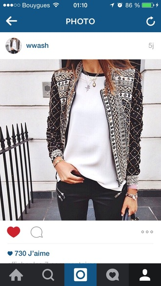 jacket white wanted vest pearl silver