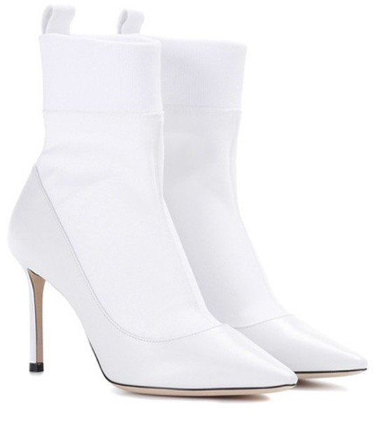 Jimmy Choo ankle boots white shoes
