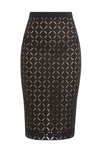 skirt pencil skirt knit black