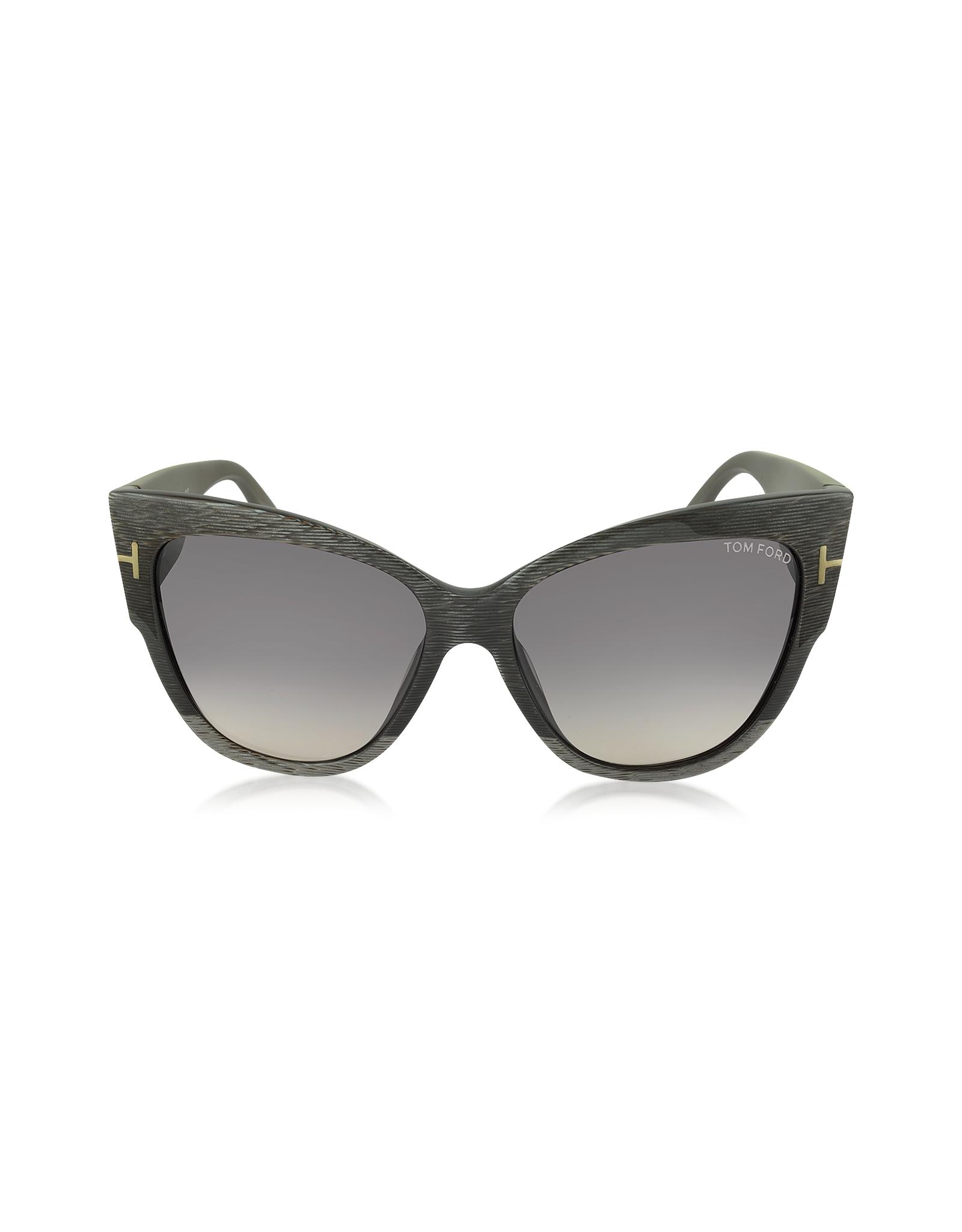 tom ford anoushka ft0371 38b dove cat eye sonnenbrille in grau. Black Bedroom Furniture Sets. Home Design Ideas