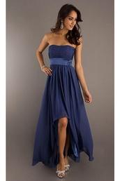 dress,navy,long prom dress,flowing
