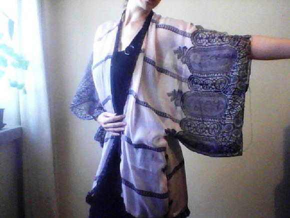 boho ethnic native hippie blouse beach kimono indie henna robe