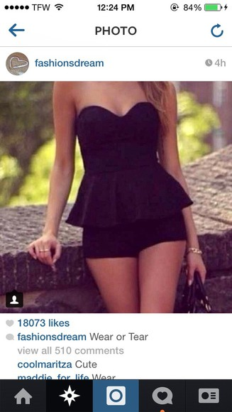 black dress harem romper jumper playsuit