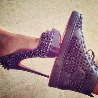 shoes studded shoes sneakers high heels dope wishlist