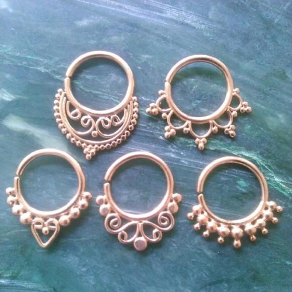 jewels piercing piercings nose ring septum piercing septum nose rings septum clicker clicker