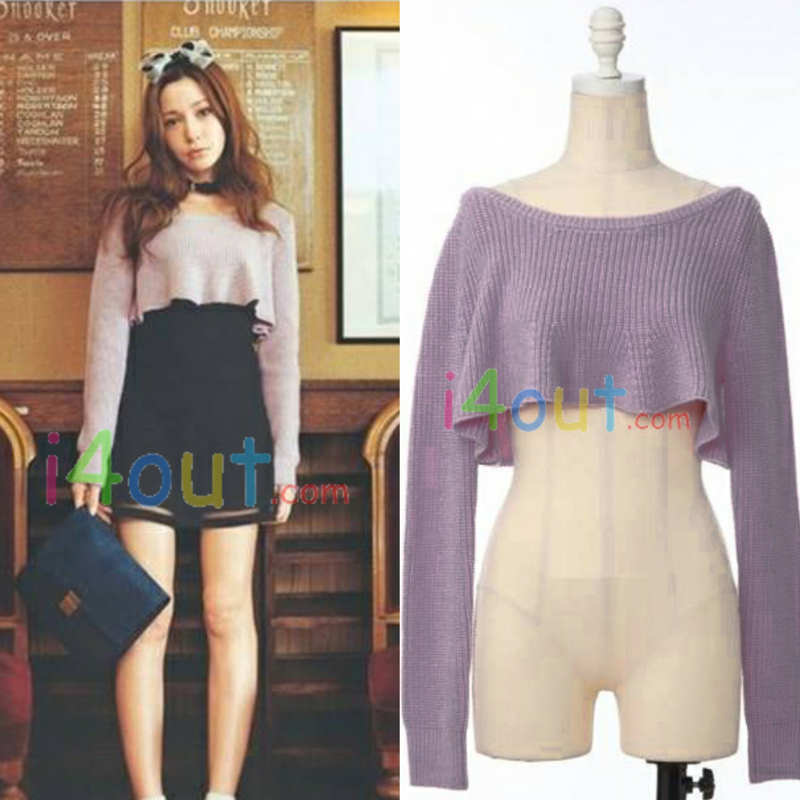Women half length cut sweater