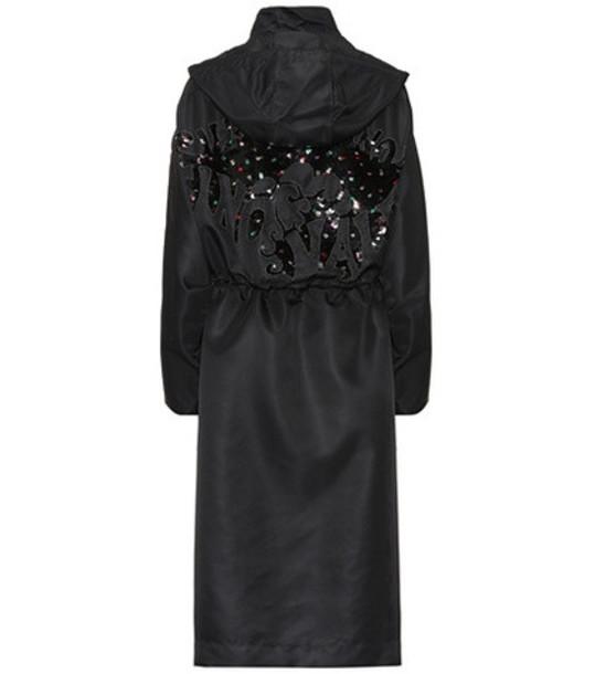 Valentino Embellished coat in black