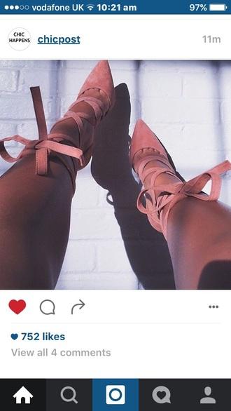 shoes high heels baby pinkk