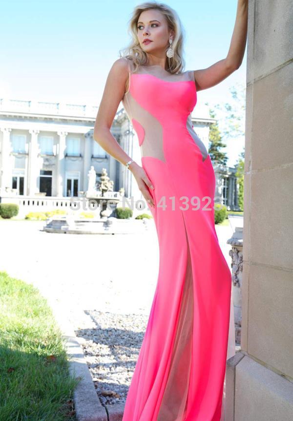 Aliexpress.com : Buy Unique Design 2014 Chiffon Sheath Sleeveless Pink Floor Length Dress Evening Dress from Reliable dress up black dress suppliers on Chaozhou City Xin Aojia dress Factory