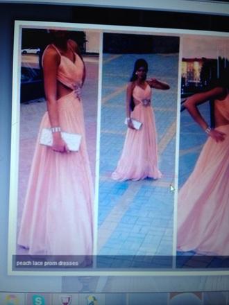 dress prom gown prom dress peach dress