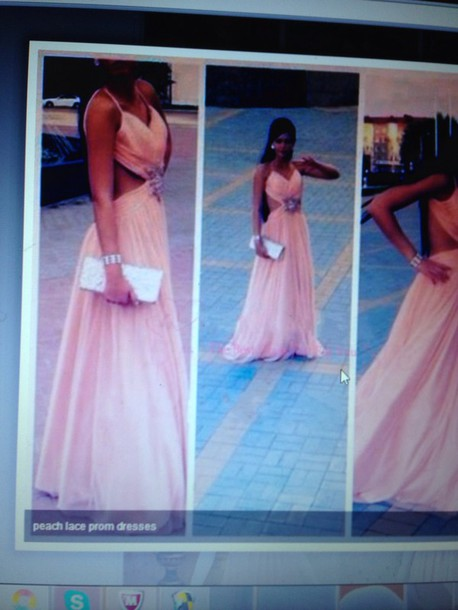 dress prom gown prom dress peach dress
