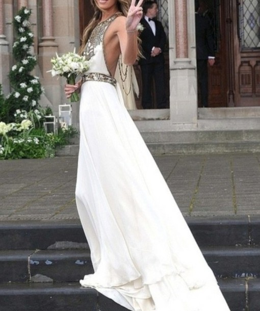 Boho Hippie Gypsy Wedding Dresses dress white pretty prom prom