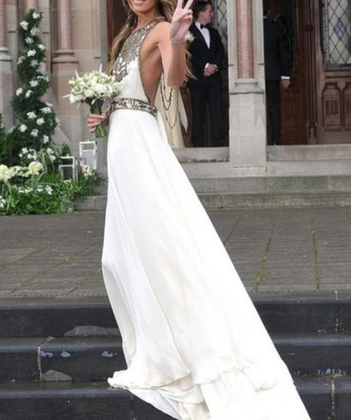 Boho Hippie Gypsy Wedding Dresses dress white pretty prom prom