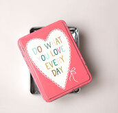 home accessory,tin,storage,pretty,pink,inspire,quote on it,gift ideas,love quotes