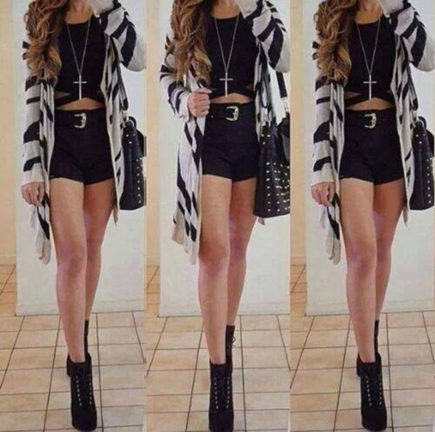 coat jacket black daily book store cardigan zebra cardigan rinasenorita zebra black black boots black heel boots cute black and white top jewels nail accessories nail polish hair accessory shoes shorts