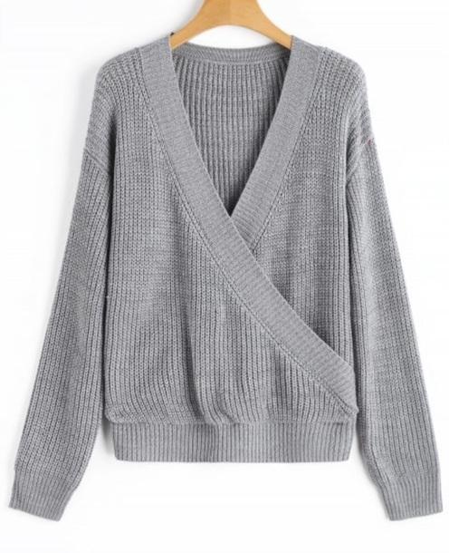 sweater girly grey grey sweater