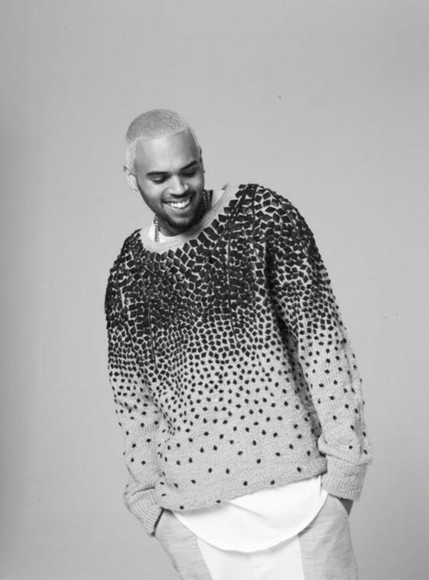 chris brown menswear sweater