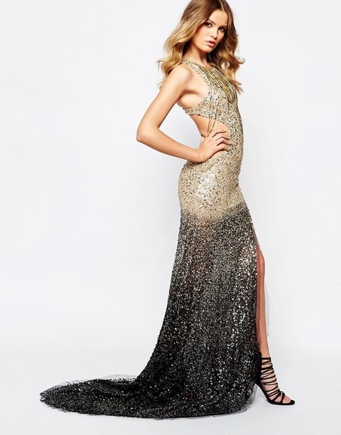 Dress Gown Asos Clothes Embellished Evening Dress Long Evening