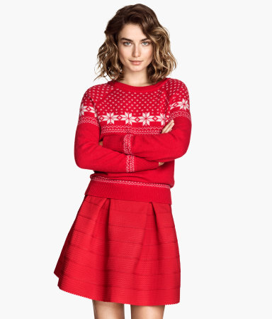 H&m skirt with textured pattern $39.95