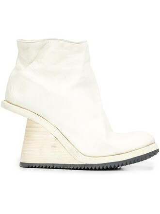 high women boots ankle boots leather white shoes