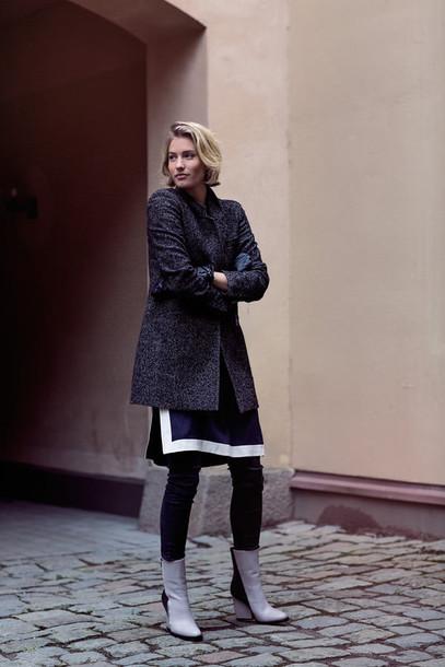 zanita blogger dress charcoal coat