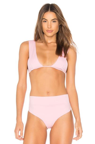 bikini bikini top violet pink swimwear