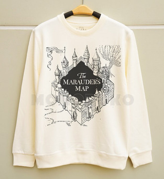 harry potter top white sweater sweater